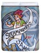 Steampunked Jams Duvet Cover