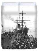 Steamship In Japan Duvet Cover