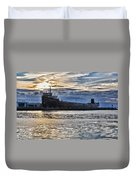 Steamship William G. Mather - 1 Duvet Cover