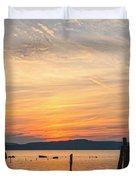 Steamy Hudson River Sunrise Duvet Cover