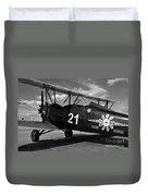 Stearman Biplane Duvet Cover