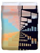 Steel And Clouds At Sunset 7  Duvet Cover