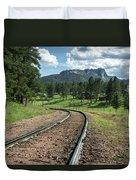 Steel Tracks In The Black Hills Duvet Cover