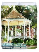 Steele Memorial Bandstand Duvet Cover