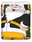 Steelers Santa Claus Duvet Cover