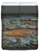 Steelhead Trout Fall Migration Duvet Cover