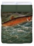 Steelhead Trout Fish No.143 Duvet Cover