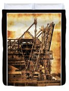 Steelmill Boatdock Cranes Detroit Duvet Cover