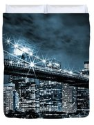 Steely Skyline Duvet Cover
