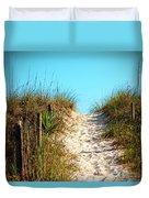 Steep Beach Path Duvet Cover