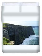 Steep Sheer Sea Cliff's Known As The Cliff's Of Moher Duvet Cover
