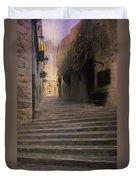 Steep Steps Of Girona Duvet Cover