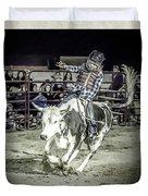 Steer Buck Out _c Duvet Cover