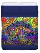 Stegasaurus Colorado Duvet Cover