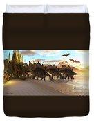 Stegosaurus Dinosaur Duvet Cover