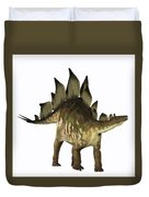 Stegosaurus Profile Duvet Cover