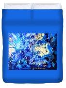 Stellar Blue Tides Duvet Cover
