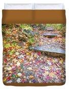 Step Into Fall Duvet Cover