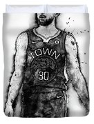 Steph Curry, Golden State Warriors - 18 Duvet Cover