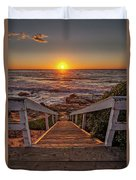Steps To The Sun  Duvet Cover by Peter Tellone