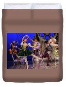 Stepsister Ballerinas En Pointe And Guests Ballroom Dancing In B Duvet Cover