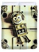 Stereo Robotics Art Duvet Cover