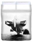 Stern Of Zeppelin Airship - 1908 Duvet Cover