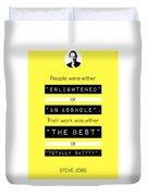 Steve Jobs Quote Duvet Cover