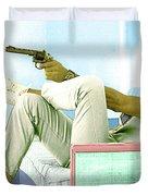 Steve Mcqueen, Colt Revolver, Palm Springs, Ca Duvet Cover