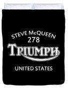 Steve Mcqueen Isdt Triumph Duvet Cover by Mark Rogan