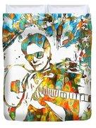 Steve Vai Paint Splatter Duvet Cover