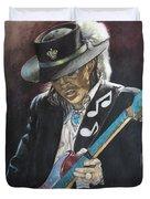 Stevie Ray Vaughan  Duvet Cover by Lance Gebhardt