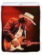 Stevie Ray Vaughan Painting Duvet Cover