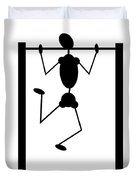 Stickman Pull Up Duvet Cover