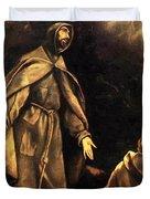 Stigmatisation Of St Francis Duvet Cover