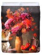 Still - Floral And Fruit Duvet Cover