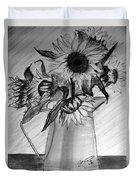 Still Life - 6 Sunflowers In A Jug Duvet Cover