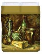 Still Life 72 - Oil On Wood Duvet Cover