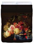 Still Life Duvet Cover by Cornelis de Heem
