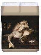 Still Life, Fish Duvet Cover