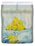 Still Life - Lemons Duvet Cover
