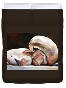 Still Life Mushrooms Duvet Cover