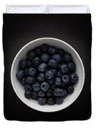 Still Life Of A Bowl Of Blueberries. Duvet Cover