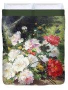 Still Life Of Flowers Duvet Cover