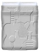 Still Life Paper Relief Duvet Cover