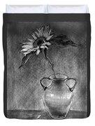 Still Life - Vase With One Sunflower Duvet Cover
