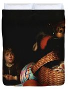 Still Life With A Boy Blowing Soap Bubbles 1636 Duvet Cover