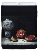Still Life With A Pomegranate Duvet Cover