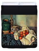 Still Life With Apples Duvet Cover by Paul Cezanne