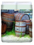 Still Life With Barrels Duvet Cover